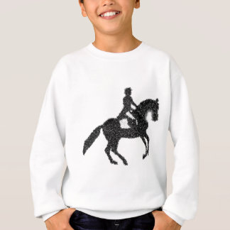 Dressage Horse and Rider Mosaic Design Sweatshirt