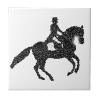 Dressage Horse and Rider Mosaic Design Tile