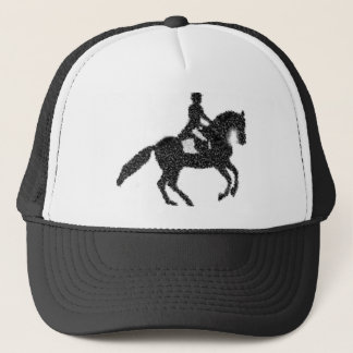 Dressage Horse and Rider Mosaic Design Trucker Hat