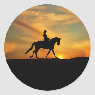 Dressage Horse and Rider Stickers