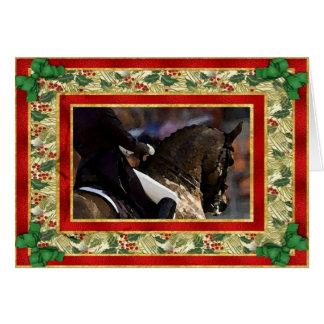 Dressage Horse Blank Christmas Card