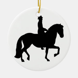 Dressage Horse Ceramic Ornament
