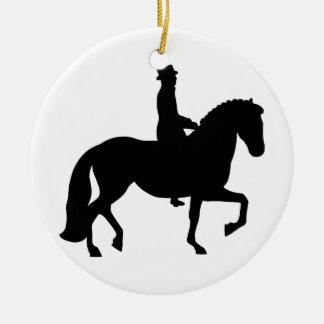 Dressage Horse Ceramic Ornament