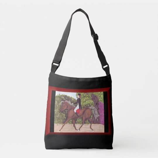 Dressage Horse English style riding cross body bag