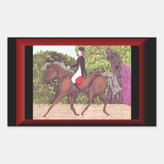 Dressage Horse English style riding sticker