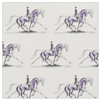 Dressage Horse in Trot Piaffe Fabric
