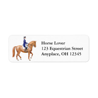Dressage Horse Label Return Address Label