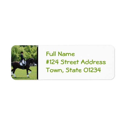 Dressage Horse Return Address Label