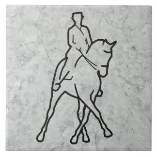 Dressage Horse & Rider - Half Pass Tile