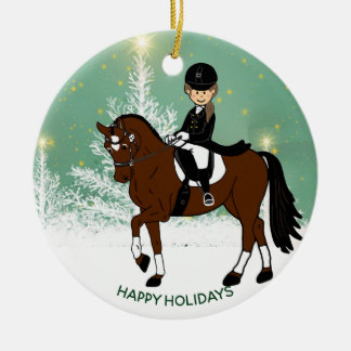Dressage Horse Rider Xmas Decoration Personalized