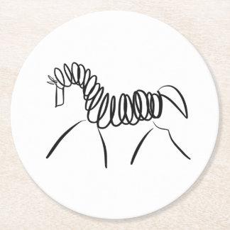 Dressage Horse Round Paper Coaster