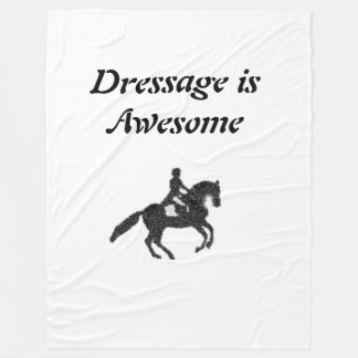 Dressage is Awesome Mosaic Horse and Rider Blanket