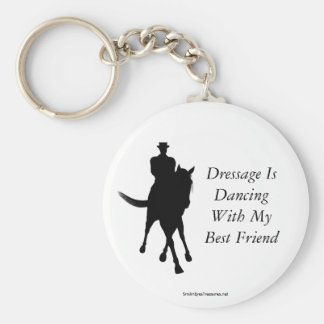 Dressage Is Dancing Best Friend Horse Keychain