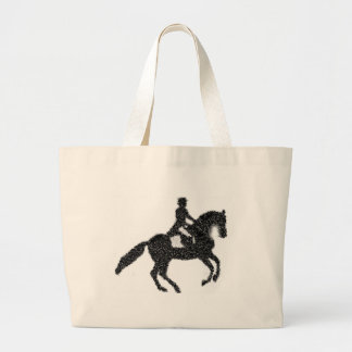 Dressage Jumbo Tote - Mosaic Horse and Rider