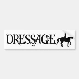 Dressage (Pirate Style Text w/ Piaffe)) Bumper Sticker