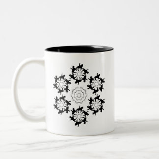 Dressage Pirouettes Two-Tone Coffee Mug