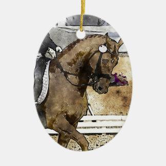 Dressage Rider Ceramic Ornament