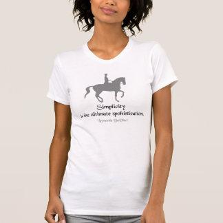 Dressage Rider da Vinci Quote T-Shirt