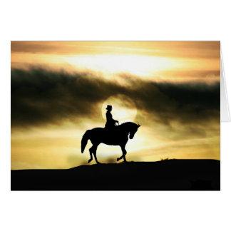 Dressage Rider Horse Sympathy Card