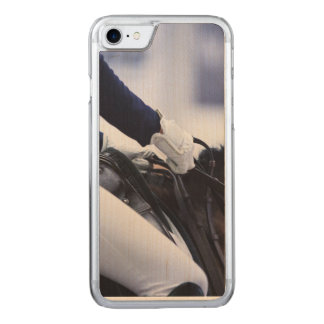 Dressage Rider, maple wood Carved iPhone 8/7 Case