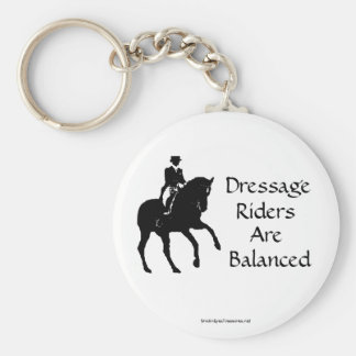 Dressage Riders Are Balanced Horse Keychain