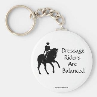 Dressage Riders Are Balanced Horse Keychain