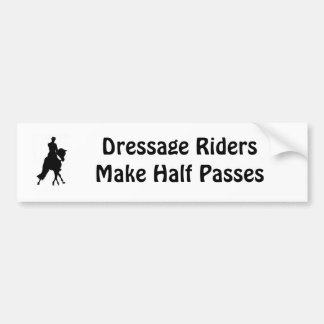 Dressage Riders Half Pass Bumper Sticker