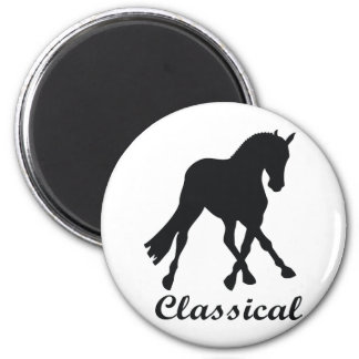 Dressage Side Pass Classical 2 Inch Round Magnet