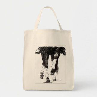 Dressage Veggie Tote Grocery Tote Bag