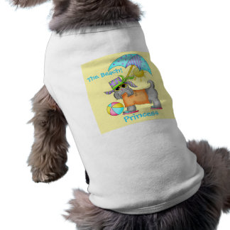 Dressed Beach Dog Personalized Yellow Pet Shirt