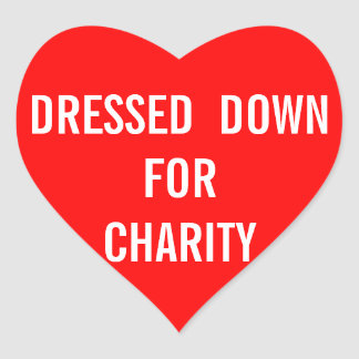 Dressed For Charity Heart Heart Sticker