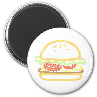 Dressed Hamburger Magnet