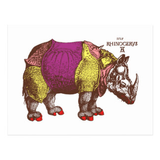 Dressed to Kill Rhino Postcard