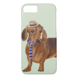Dressed-up Dachshund (Background Color Editable) Case-Mate iPhone Case