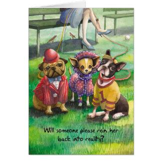 Dressed Up Dog - Funny Birthday Cards