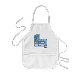 dresser blue kids' apron