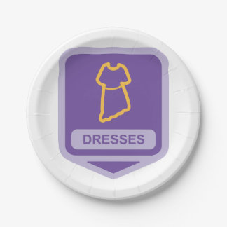 Dresses Sign Paper Plates 7 Inch Paper Plate