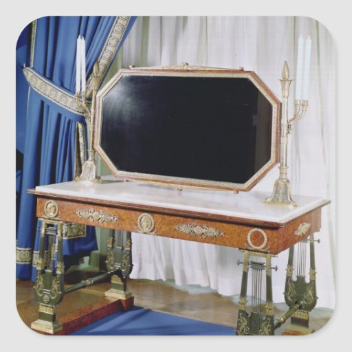 Dressing table belonging to Empress Josephine Square Sticker