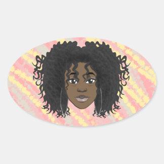 Drew Drew Avatars Oval Sticker