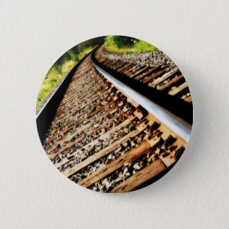 Drew Sullivan -  Railroad Tracks 2 Inch Round Button