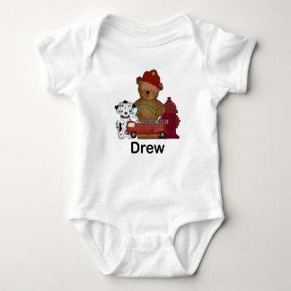 Drew's Little Fire Bear Personalized Gifts Baby Bodysuit