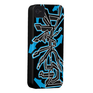 Drgn I Ebony (Cyan) iPhone Case