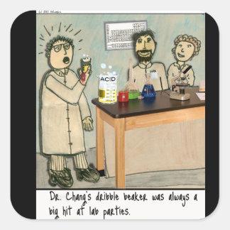 Dribble Beaker Laboratory Humor Square Sticker
