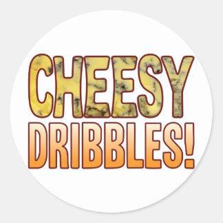 Dribbles Blue Cheesy Round Sticker