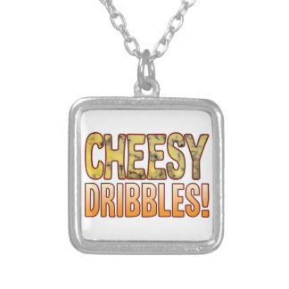 Dribbles Blue Cheesy Silver Plated Necklace