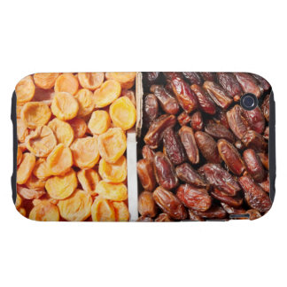 Dried apricots and dates at farmer's market iPhone 3 tough case