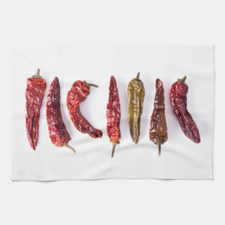 Dried Chili Peppers Kitchen Towel