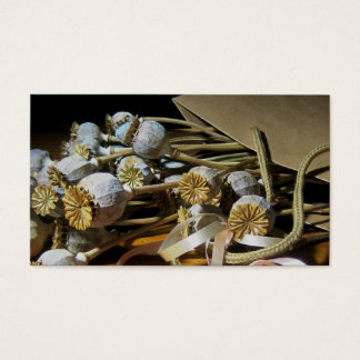Dried Flower Poppy Pods Business Card
