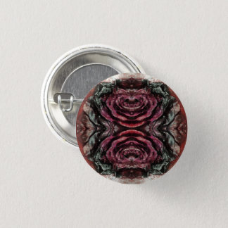 Dried Red Rose 1 Inch Round Button