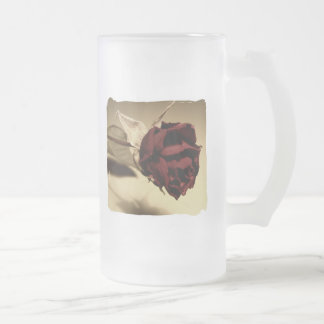 Dried Rose Photograph - Color 16 Oz Frosted Glass Beer Mug